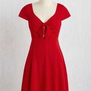 [Modcloth] Red A-Line Dress